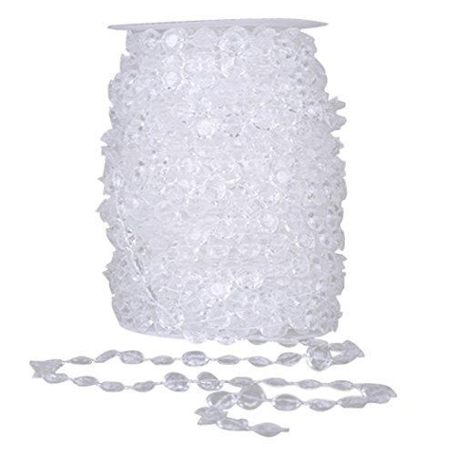 Rouleau De Perle, Funpa Perle Pendante Transparente De Perles De DéCoration De ChaîNe De Perle De Guirlande De Perle Pour La Noce