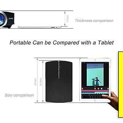 Video Projecteur Portable, Artlii Retroprojecteur Mini LED, Supporte le 1080p, Compatible iPhone / Smartphone / PC / Xbox /PS4 pour Jeux Vidéos et Films par Artlii