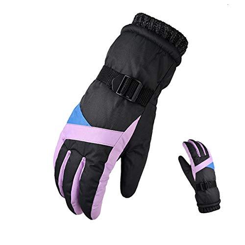 WXHXSRJ Guanti da Sci Invernali Termici Impermeabili - Touchscreen/Antivento - Freddo Antiscivolo Caldo per Ciclismo Guida Corsa Campeggio Escursionismo,Grigio