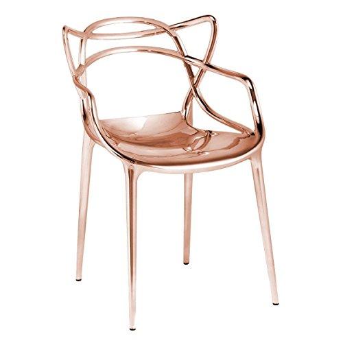 Kartell 05862RR Masters Essstühle, Plastik, orange, 55 x 83 x 53.5 cm,2 Stühle