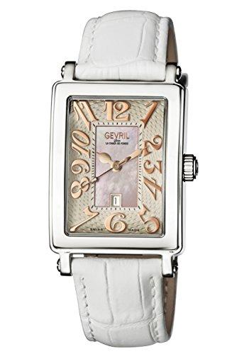 Gevril de la mujer 9040r Avenue Ladies Acero de Tamaño Medio Funda Rosa Dial Rosa números reloj de pulsera banda de acero.