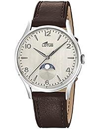 Lotus Watches Reloj Fase Lunar para Hombre de Cuarzo con Correa en Cuero  18427 1 d75818e6ab1e