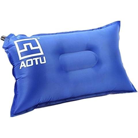 MaMaison007 Poliester del tafetan de ripstop PVC exterior automatico aireada de almohada - azul