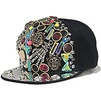 Klauen Leopard Head Multi Rivet Nähen Hip-Hop flach entlang Hut Street Dance Baseball Cap