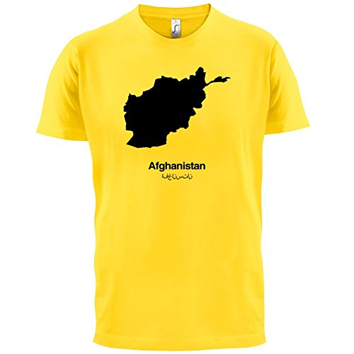 Afghanistan / Islamische Republik Afghanistan Silhouette - Herren T-Shirt - 13 Farben Gelb