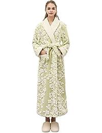9797de2022 MIRRAY Unisex Bathrobe Warm Winter Full Length Plush Shawl Sleepwear Womens  Men Dressing Gown Robe