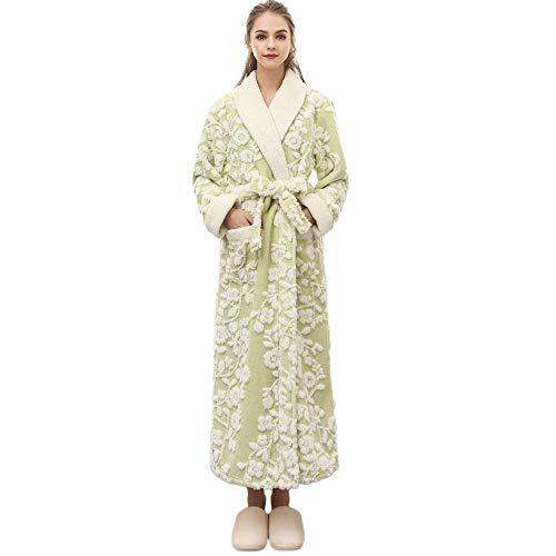Preisvergleich Produktbild Damen Dessous Weihnachten Luckycat Winter verlängerter korallenroter Plüsch Schal Bademantel langärmeliger Robe Mantel Nachtwäsche Unterwäsche Reizwäsche
