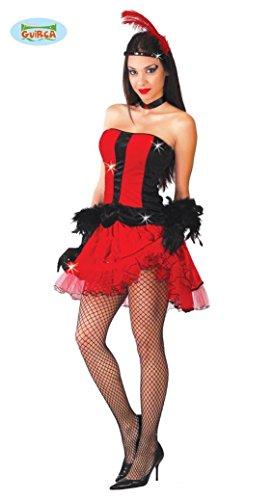 KOSTÜM - CANCAN TÄNZERIN - Größe 42-44 (L), Wilder Westen Saloon sexy Girl Cabaret Variete Revue französischer volkstümlichTanz Frankreich