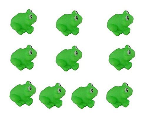 Isuper Badespielzeug, Baby Badewanne Spielzeug 10 Stück Grün Frosch Bade Spielzeug, Lustiges Ton Spielzeug (Frosch-gummi-spielzeug)