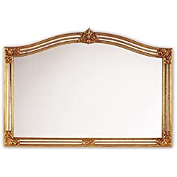 Casa Padrino espejo de pared de estilo barroco oro 129 x H. 89 cm - Muebles de Hotel y Restaurante