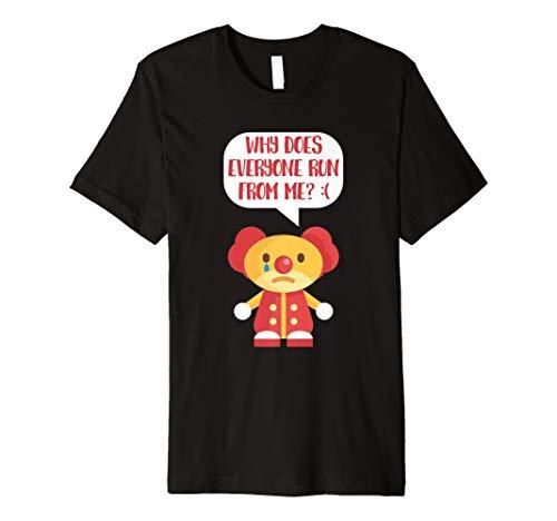 Sad Clown T-Shirt lustig Cartoon Scary traurig, Clown -