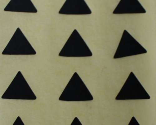 150 ETIQUETAS, 10mm triángulo, negro, pegatinas autoadhesivas, minilabel Formas