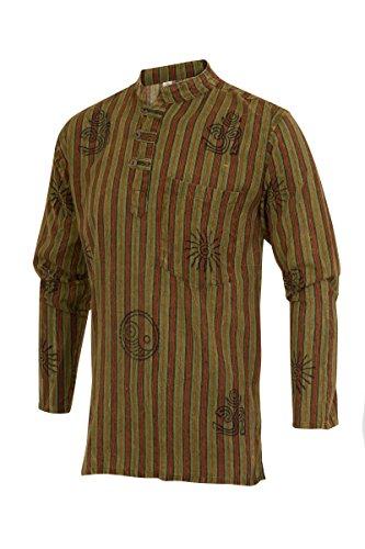 ThaiUK Herren Freizeit-Hemd Grün