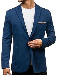 BOLF Herren Sakko Sweatjacke Slim Fit Blazer Anzug Casual Jacke Modisch Freizeit Modern Outwear New Top Anzugjacke Casual Modisch Slim Fit Mix
