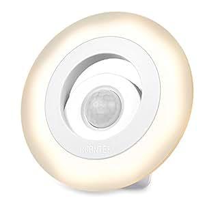 AVANTEK Luce LED Notturna Lampadina Notturna Magnetico con Sensor Movimento, 150 Lumen, Bianco Caldo 3000K, Anello Forma