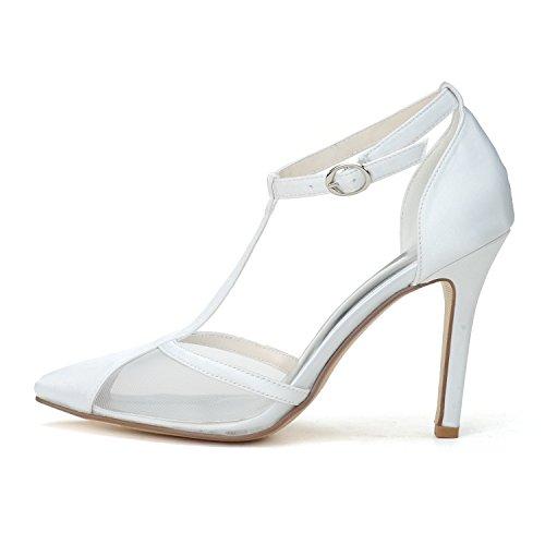 Les Chaussures Élégantes Des Chaussures Avec Un Talon En Forme De Tige Attachent Les Sandales Transparentes Blanches