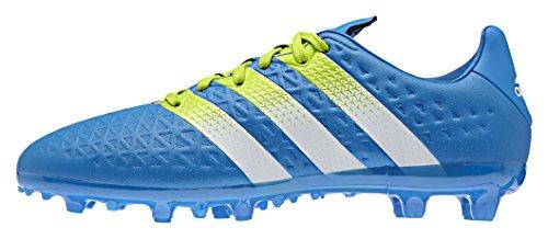 adidas Ace 16.3 Fg/Ag J, Chaussures de Football Mixte Bébé Multicolore - Azul / Verde / Blanco (Azuimp / Seliso / Ftwbla)