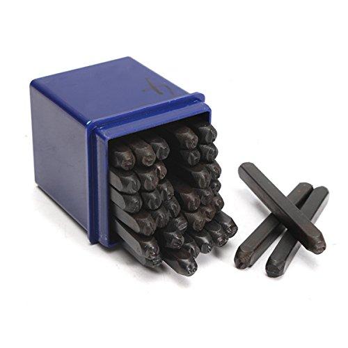 HELEISH 36Pcs 4mm Brief Anzahl Stempel Stempel Stahl Alphabet Stamping Pressing Kit Zubehörwerkzeug