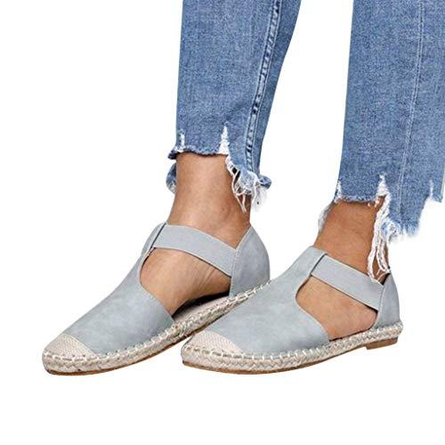 Flache Sandalen Damen Sommer Geschlossen Mode Vintage Leinen Weben Runde Kappe Segelschuhe Elegant Freizeit Schuhe Riou 2019 New Günstig