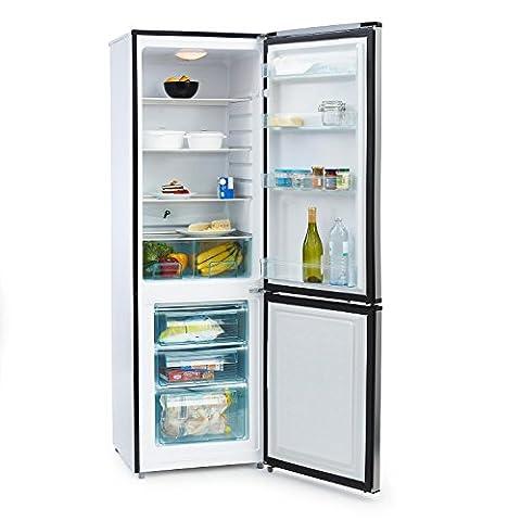 Klarstein Big Mommy Cool • Kühl- und Gefrierkombination • 210 Liter Kühlschrank • 90 Liter Gefrierfach • 3 Glas-Ablagen • Gemüsefach • 4 Türablagen • Innenraumbeleuchtung • regelbarer Thermostat • 3 Gefrierschubladen • silber