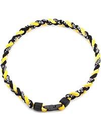 HuaYang sports 3 corde tressée colliers de titane tornade de sport de baseball(Noir/Noir/Jaune)