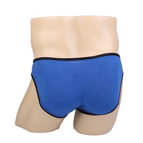 Uomo Mutande Slip Anteriore Estraibile T-back Sessuale Biancheria Intima Della Cinghia Blu
