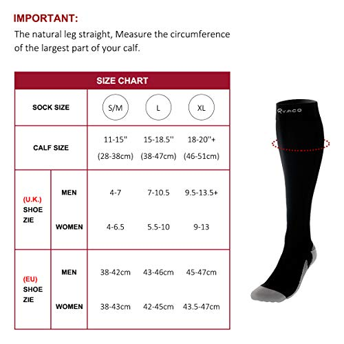 Ryaco-Compression-Socks-for-Men-Women-20-30-mmhg-Best-Graduated-Athletic-Fit-Sports-Socks-for-Boost-Stamina-Circulation-Recovery-Running-Nurses-Shin-Splints-Flight-Travel-Pregnancy