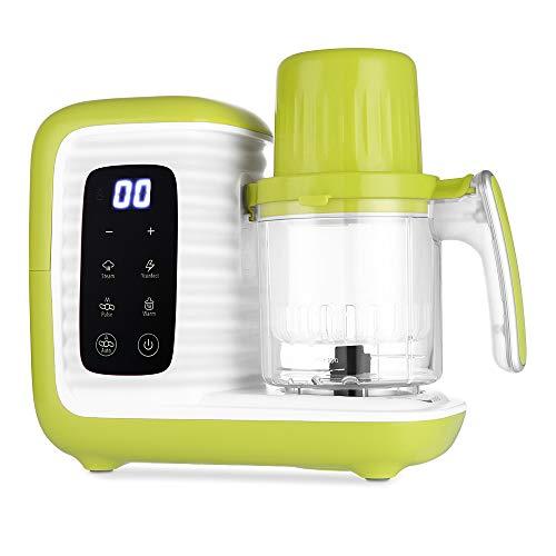 Zanmini Procesador de Alimentos para Bebés, para Vaporizar, Batir y Calentar, 7 en 1 Robot de Cocina para Bebé, Bajo Consumo de Energía, Procesador Multifuncional, Libro de recetas incluido