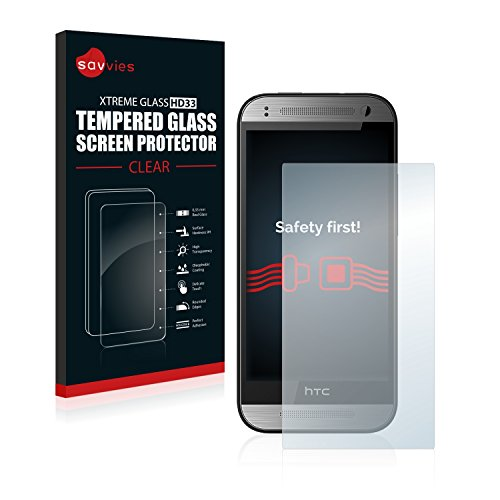 Savvies Panzerglas kompatibel mit HTC One M8s - Echtglas Schutzfolie 9H