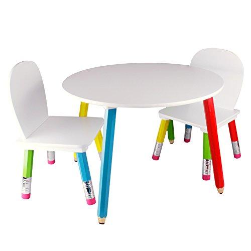 Bleistift Kindersitzgruppe Kindermöbel Kindertisch Kinderstuhl mit Tisch und zwei Stühlen