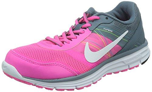 Nike Lunar Forever Femmes 4 Baskets pour Chaussures de Course à Pied pour Femme Rose/Gris/Blanc-Taille 5