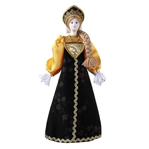 danila-souvenirs Muñeca de Porcelana Hecha a Mano Rusa en Traje folklórico Tradicional 28 cm 23-01