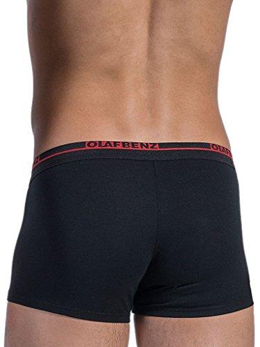 Olaf Benz Herren Retroshorts RED1010 Minipants, 2er Pack, Einfarbig Schwarz