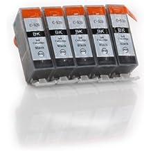 5x schwarz PGI-520BK Tintenpatronen mit Chip kompatibel zu Canon für Canon Pixma iP3600 iP4600 iP4600X iP4700 MP 980 MP 990 MP 540 MP 550 MP 560 MP 620 MP 630 MP 640 MP 640R MX860 MX870