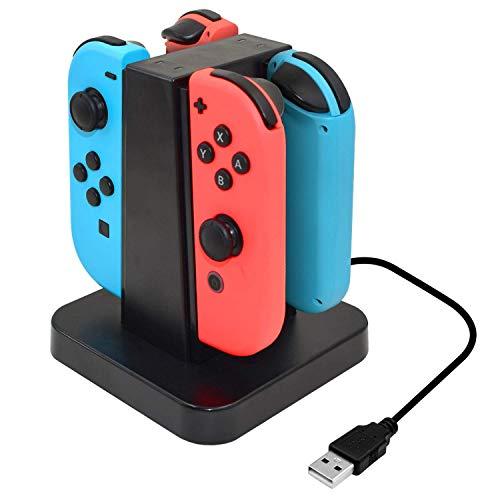 Link-e : ladestation für 4 Joy-con controller an der Nintendo Switch konsole - Wii Station Docking Ladegerät