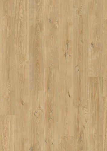 EGGER Home Comfort-warm und leise-Korkboden hell braun in Holzoptik EHC001 Jacksonville Eiche natur (8mm Stärke, 8 Dielen=1,995m² im Paket) Kork Laminat mit Trittschalldämmung