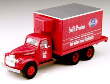 Classic Metal Works 221-30275 H0 1941-1946 Chevrolet Reefer Truck Swift's Premium (red)