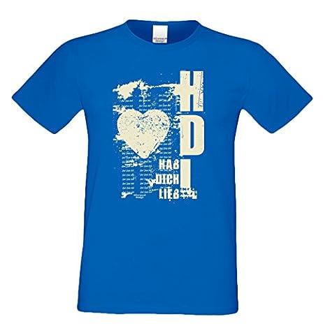 Geburtstag, Geschenk, Geburtstagsgeschenk T-Shirt Geschenkidee Hab Dich lieb für den weltbesten Papa Herrenshirt Farbe: royal-blau Gr: M