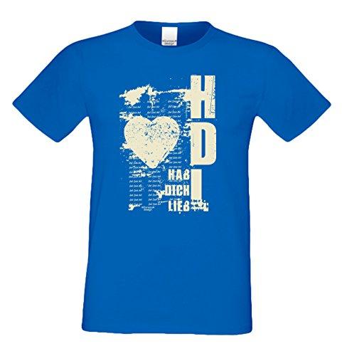 Geburtstag, Geschenk, Geburtstagsgeschenk T-Shirt Geschenkidee Hab Dich lieb für den weltbesten Papa Herrenshirt Farbe: royal-blau Royal-Blau