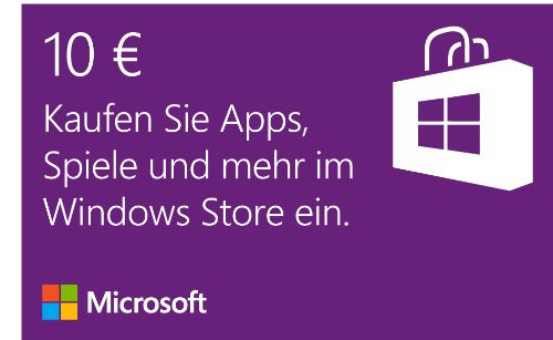 windows store 10 eur guthaben online code technik bei tips. Black Bedroom Furniture Sets. Home Design Ideas
