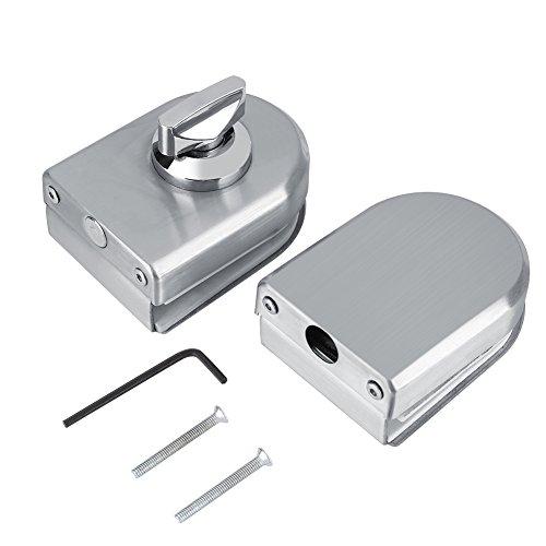 10-12mm Verrou d'acier inoxydable Serrure de Porte de Demi-cercle de Bouton rotatif de serrure de porte en verre pour la salle de bains d'hôtel à la maison