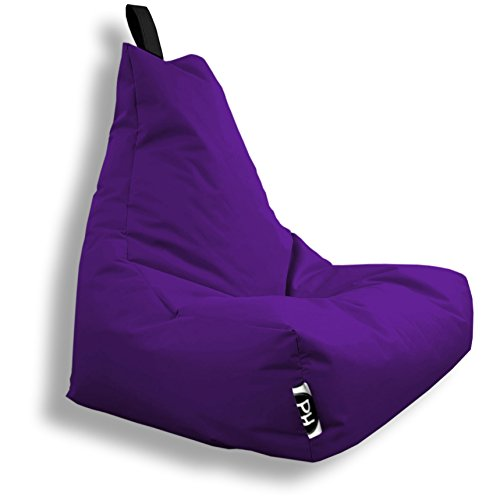 Patchhome Lounge Sessel XXL Gamer Sessel Sitzsack Sessel Sitzkissen In & Outdoor geeignet fertig befüllt | XXL - Lila - in 2 Größen und 25 Farben