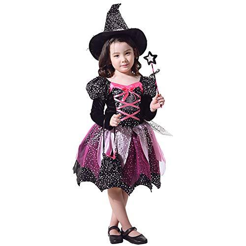 Up Light Kostüm Baby - Yqihy Halloween Kostüm Cosplay Für Kinder Hexe Mädchen Light-Up Kostüm Hut Kinder Fantasie Karneval Party