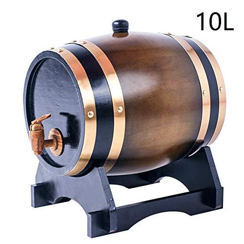 · El color está referenciado a la primera imagen.· El paquete incluye: 1 * barril de roble, 1 * soporte de roble, 1 * corcho de roble· El barril NO es para vinos o licores de crianza, solo se almacena.· No agite el barril de roble. No utilice element...