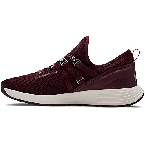 Damen-trainer (Under Armour Damen Breathe Trainer Hallenschuhe, Rot Dark Maroon/Metallic Blush 500, 39 EU)