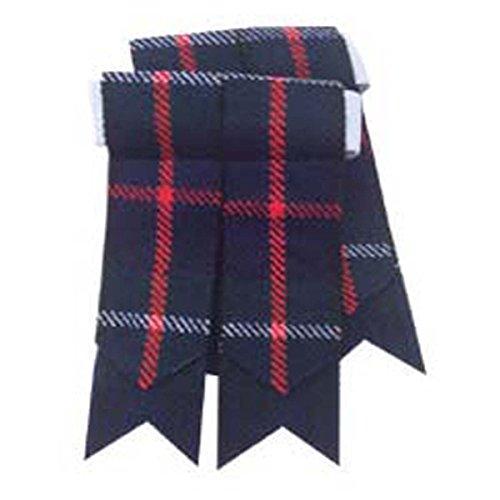 Kilt scozzese calzino lampeggia vari tartan Kilt Tubo Flash punta Mackenzie Taglia unica