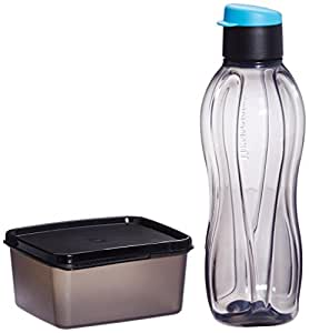 Tupperware Xtreme Set, Bottle and Box for Travellers (Multicolor)