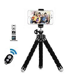Treppiedi cellulare, cavalletto per iphone flessibile, Treppiedi Fotocamera Bluetooth Universale per Smartphone…
