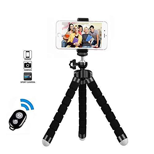 Handy Stativ, Smartphone Stativ, Mini Flexibel Reise Stativ, Handy Halter Halterung für Kamera, iPhone, Sumsung und andere Android-Smartphone mit Bluetooth Fernsteuerung Shutter (Handy-stativ-arm)