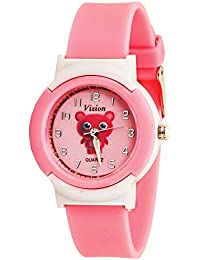 Vizion Analog Pink Dial (Doby-The Angry Panda) Cartoon Character Watch for Kids- 8811-2-2